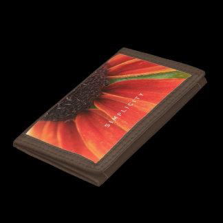 Simplicity Wildflower Orange Yellow Personalized Tri-fold Wallets