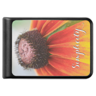 Simplicity Wildflower Orange Yellow Phone Charger
