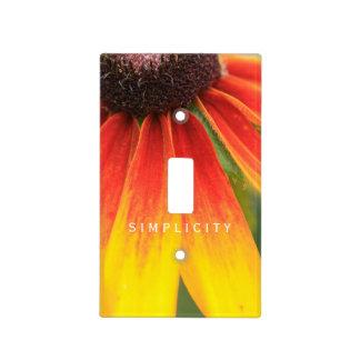 Simplicity Wildflower Orange Yellow Switch Plate