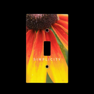 Simplicity Wildflower Orange Yellow Switch Plate