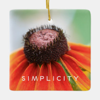 Simplicity Wildflower Rearview Mirror Hanger / Ceramic Ornament
