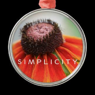 Simplicity Wildflower Rearview Mirror Hanger / Metal Ornament