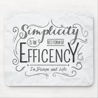 Simplicty Motivational Quote Creativity & Life Mouse Pad