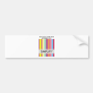 SiMPLiFi New Zazzle Store Bumper Sticker