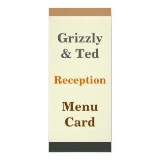 Simplified Bear Pride Flag Gay Reception Menu Card