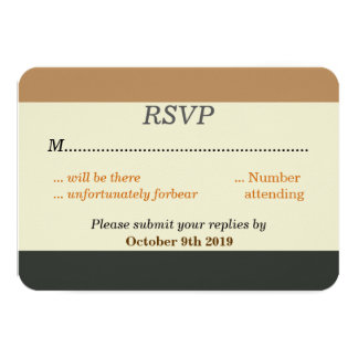 Simplified Bear Pride Flag RSVP for a Gay Wedding Card
