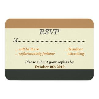 "Simplified Bear Pride Flag RSVP for a Gay Wedding 3.5"" X 5"" Invitation Card"