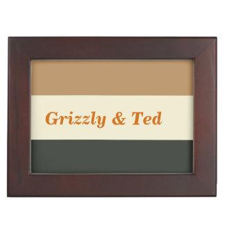 Simplified Bear Pride Gay Grooms' Wedding Gift Keepsake Boxes