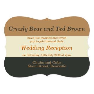 Simplified Bear Pride Gay Reception Invitation