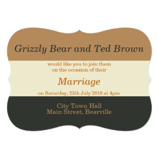 "Simplified Bear Pride Gay Wedding Invitation 5"" X 7"" Invitation Card"