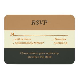 Simplified Bear Pride Gay Wedding RSVP Card