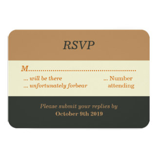 "Simplified Bear Pride Gay Wedding RSVP 3.5"" X 5"" Invitation Card"
