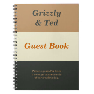 Simplified Bear Pride Guestbook for a Gay Wedding Notebook