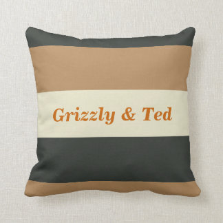 Simplified Bear Pride Pillow Gay Wedding Gift