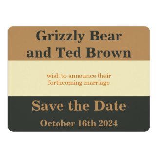 Simplified Bear Pride Save the Date Wedding Card