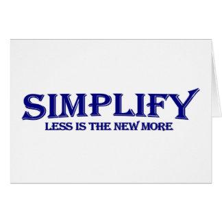 Simplifique menos es más tarjetas