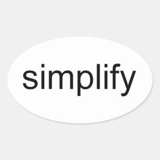 Simplifique Pegatinas Óval Personalizadas