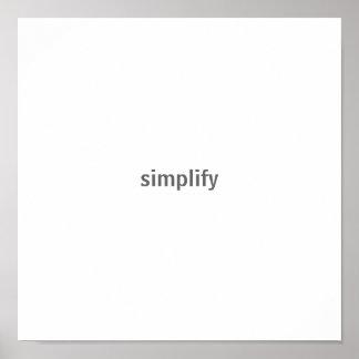 simplifique póster