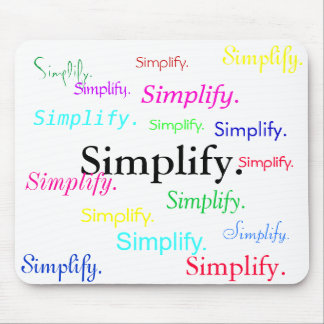 Simplify. (1 of 3) mouse pad