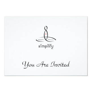 "Simplify - Aum - Black Fancy style 5"" X 7"" Invitation Card"
