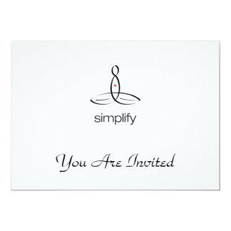 "Simplify - Aum - Black Regular style 5"" X 7"" Invitation Card"