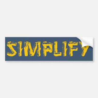 Simplify Bumper Sticker