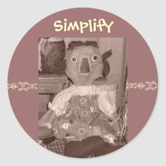 Simplify Classic Round Sticker