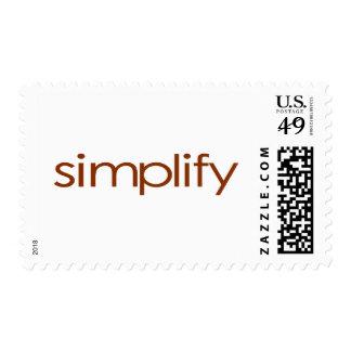 Simplify Postage Stamp