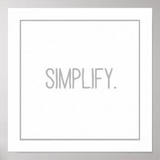 Simplify Poster