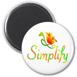 Simplify Refrigerator Magnet