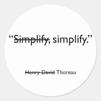 Simplify sticker