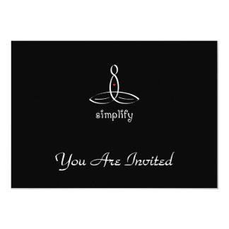 "Simplify - White Fancy style 5"" X 7"" Invitation Card"