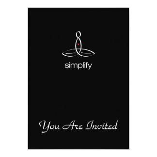 "Simplify - White Regular style 5"" X 7"" Invitation Card"