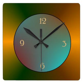 Simplista refleje el reloj azul/verde del oro de