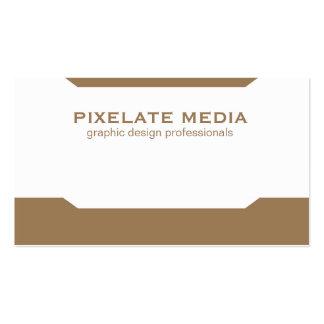 Simplistic angles comprehensive light brown business card
