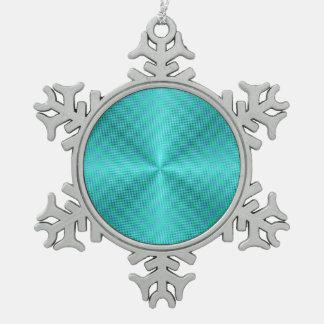 Simplistic Aqua/Green>Snowflake Ornament