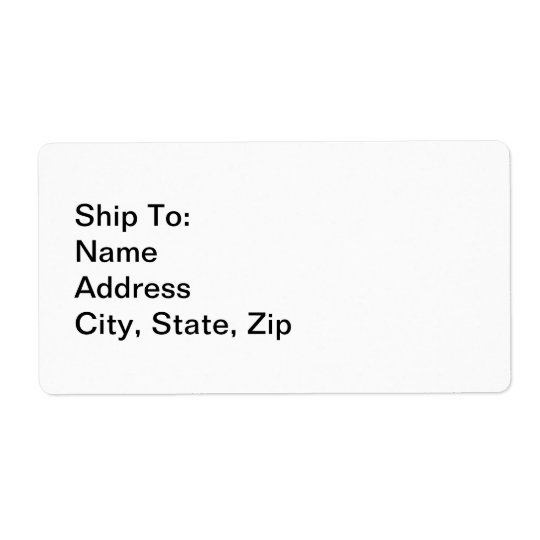Simplistic Art Business Personal Ship To Address Label