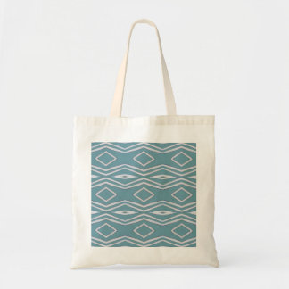 Simplistic blue and white pattern canvas bags
