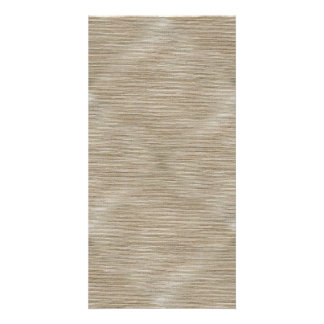 Simplistic brown and white weave card