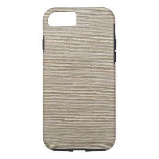 Simplistic brown and white weave iPhone 7 case