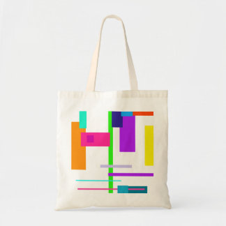 Simplistic Colorful Design Canvas Bags