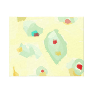Simplistic Cream > Abstract Art Prints Stretched Canvas Print