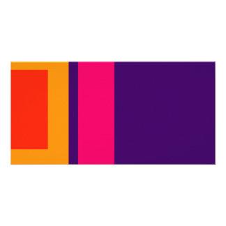 Simplistic Decisive Design Amber Photo Card