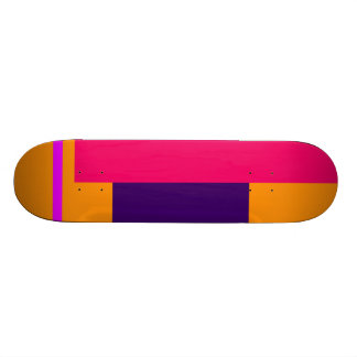 Simplistic Decisive Design Amber Skate Deck