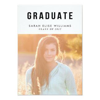 Simplistic Graduation Invitations