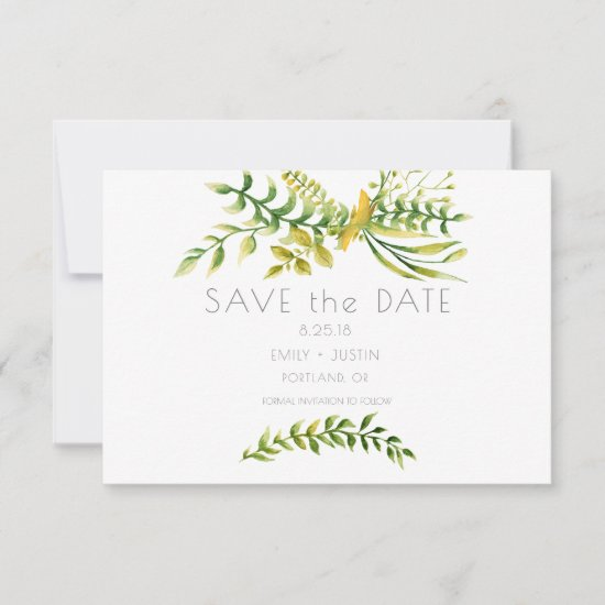 Simplistic Herbs and Botanical Save the Date |