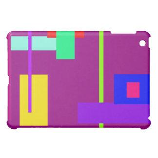 Simplistic Minimal Art Design Dark Magenta iPad Mini Case