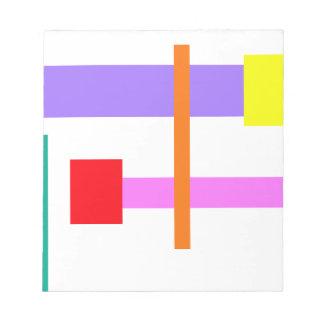 Simplistic Minimal Design Pink Note Pad