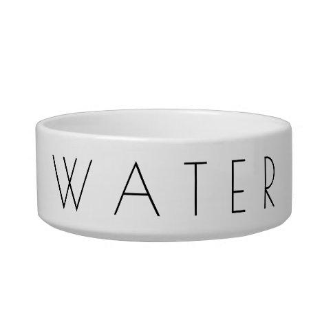 Simplistic Minimalist Pet Water Bowl