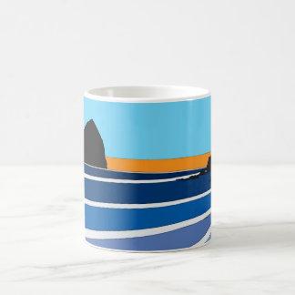 Simplistic Pacific City, Oregon Mugs
